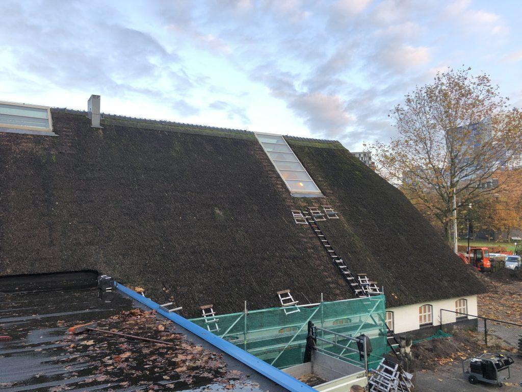 rieten dak onderhoud